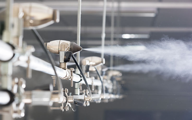 JetSpray humidifier ideal for textile factories